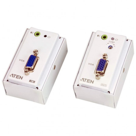 Aten VE157 VGA Audio Cat 5 Extender with MK Wall Plate