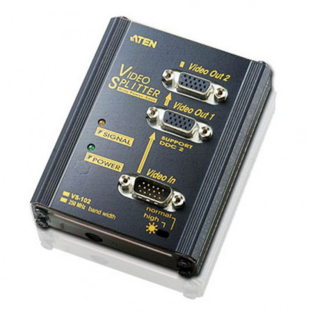 Aten VS102 2-Port VGA Splitter Wall Plate | 250MHz
