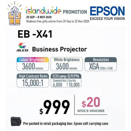 Epson EB-X41 Projector XGA 3600 ANSI