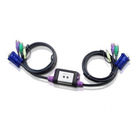 Aten CS62A 2-Port PS2 KVM Switch | 1.2m